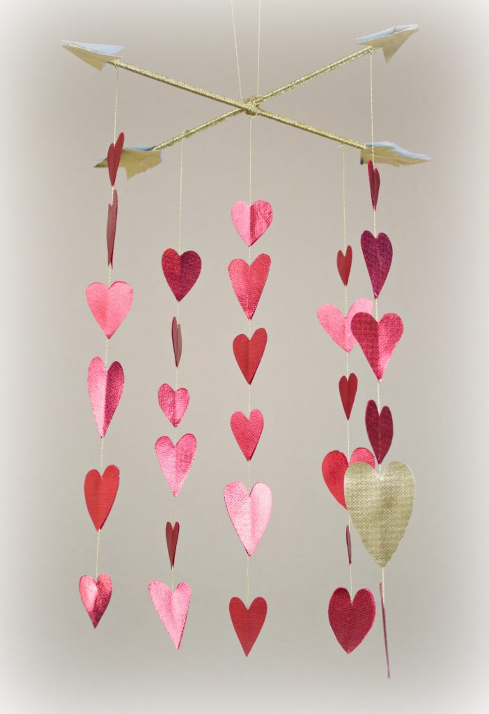Heart Mobile With Metallic Oly Fun Fabric Fairfield