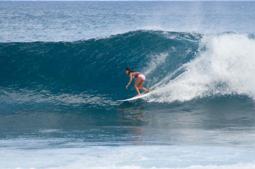 Surferparadies im Norden der Insel Oahu  Fairflight