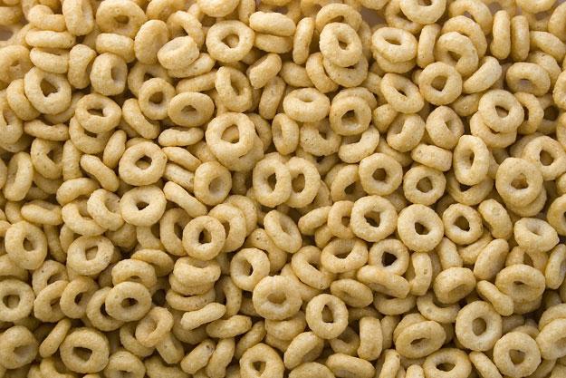 Full frame of breakfast cereal O's