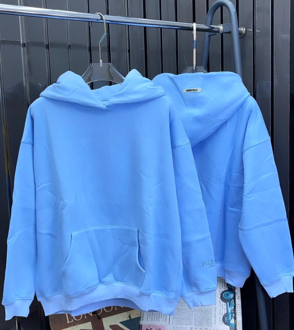 Sky-blue Sweatshirt with Hoody