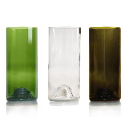 rebottled longdrink glazen naast elkaar