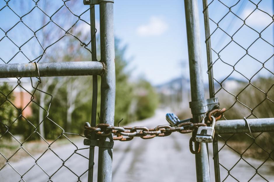 fence with padlocks