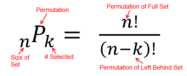 nPk permutation equation