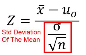 Z test equation