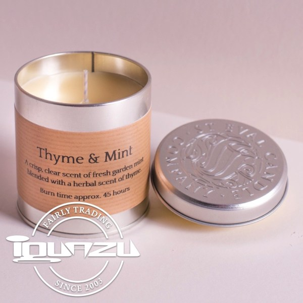 St Eval Candles - Thyme & Mint Tin Fairtrade