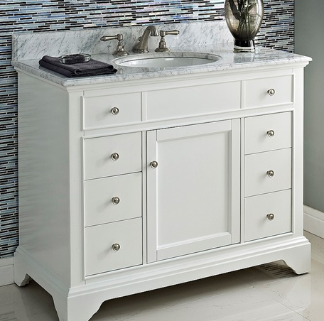 Framingham 42 Vanity  Polar White  Fairmont Designs