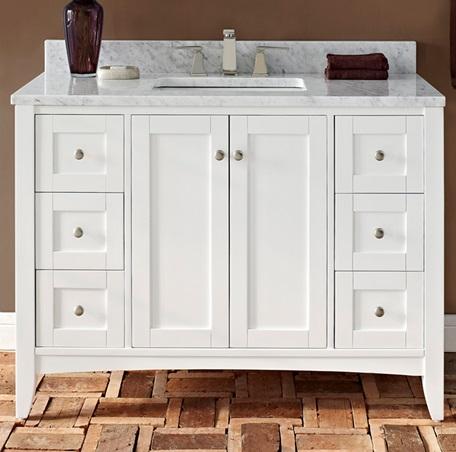 Shaker Americana 48 Vanity  Polar White  Fairmont Designs  Fairmont Designs