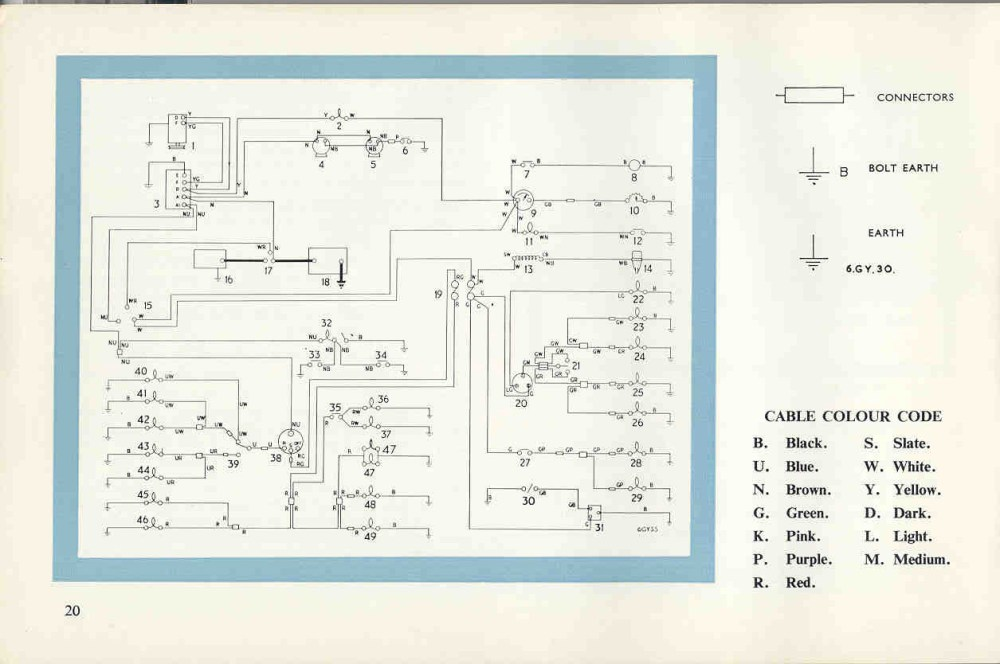 medium resolution of triumph tr4a wiring diagram