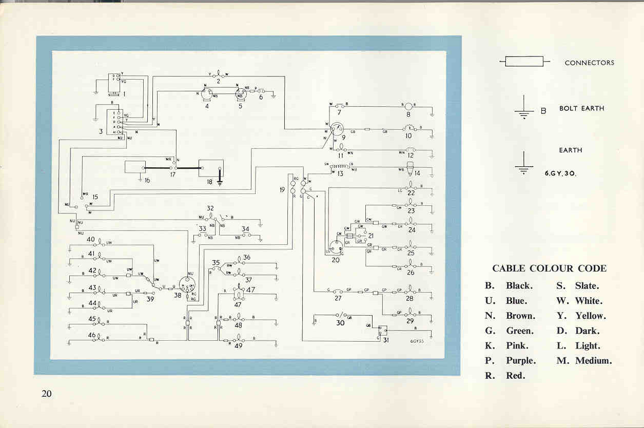 hight resolution of triumph tr4a wiring diagram