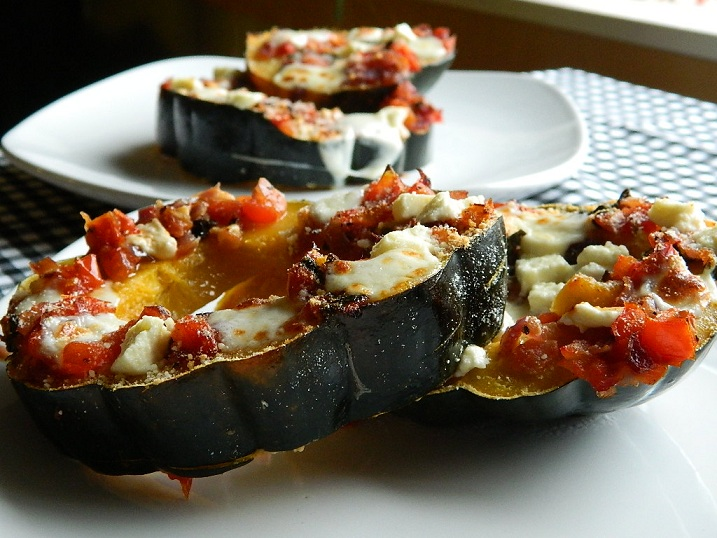 Three Cheese Italian Roast Acorn Squash