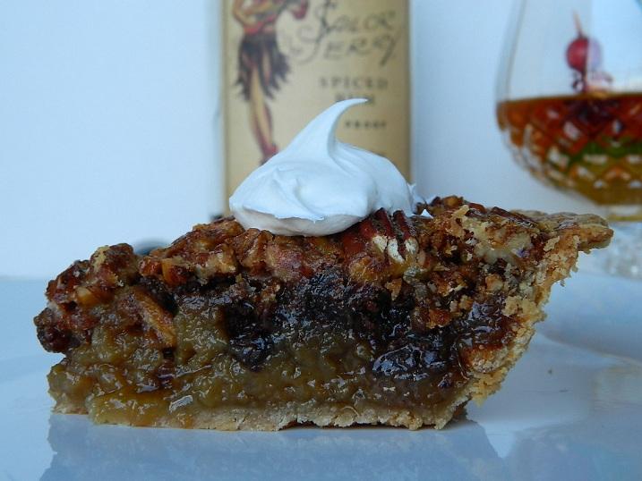 Rum Spiked Pecan Pie