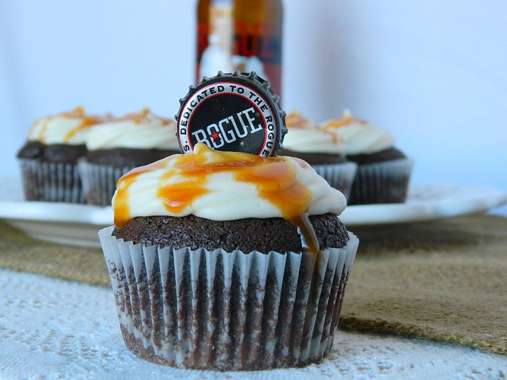 Chocolate Stout Cupcakes with Apple Cider Cream Cheese Frosting