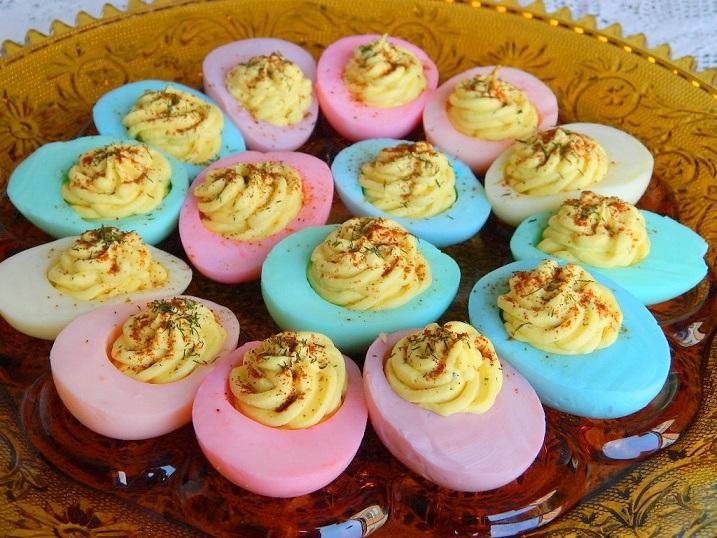 Tattooed Martha - Dyed Deviled Eggs (11)
