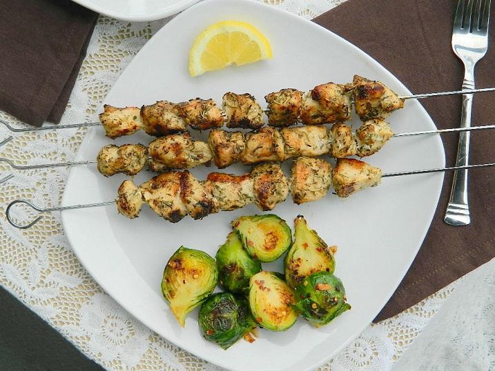 Garlic and Herb Marinated Chicken Skewers