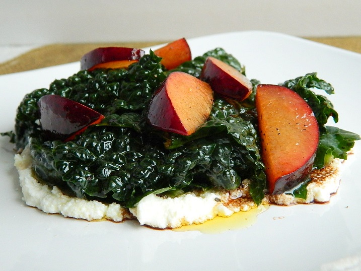 Tuscan Kale and Balsamic Plum Salad