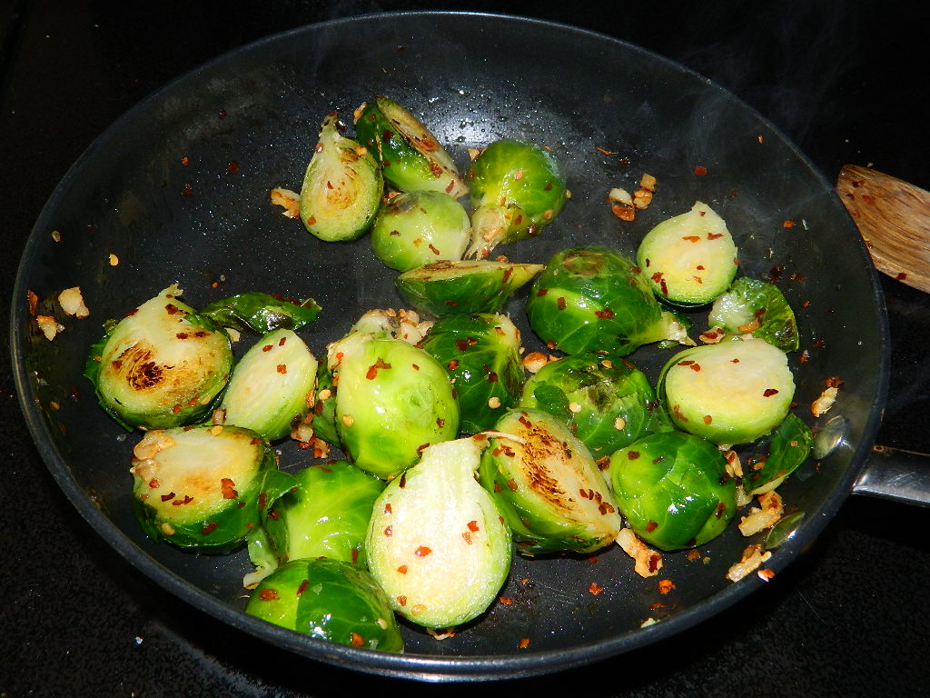 Tattooed Martha - Spicy Garlic Brussels Sprouts (5)