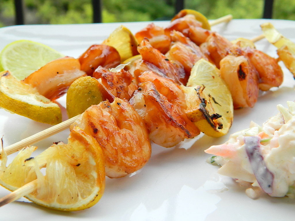 Honey-Lime Barbecue Shrimp Skewers