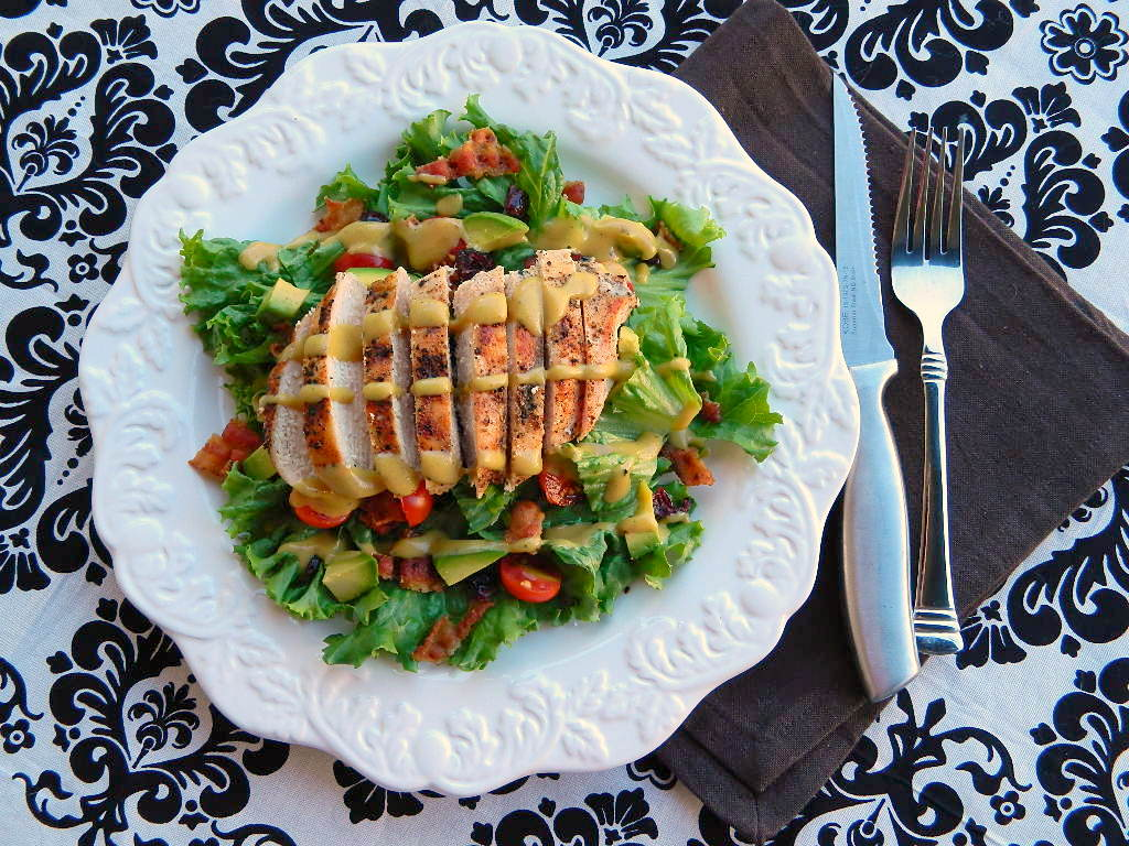 Tattooed Martha - Grilled Chicken Salad with Tangy Honey Mustard Dressing (8)