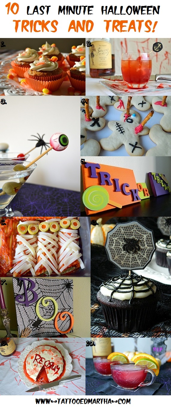 10 Last Minute Halloween Tricks and Treats!