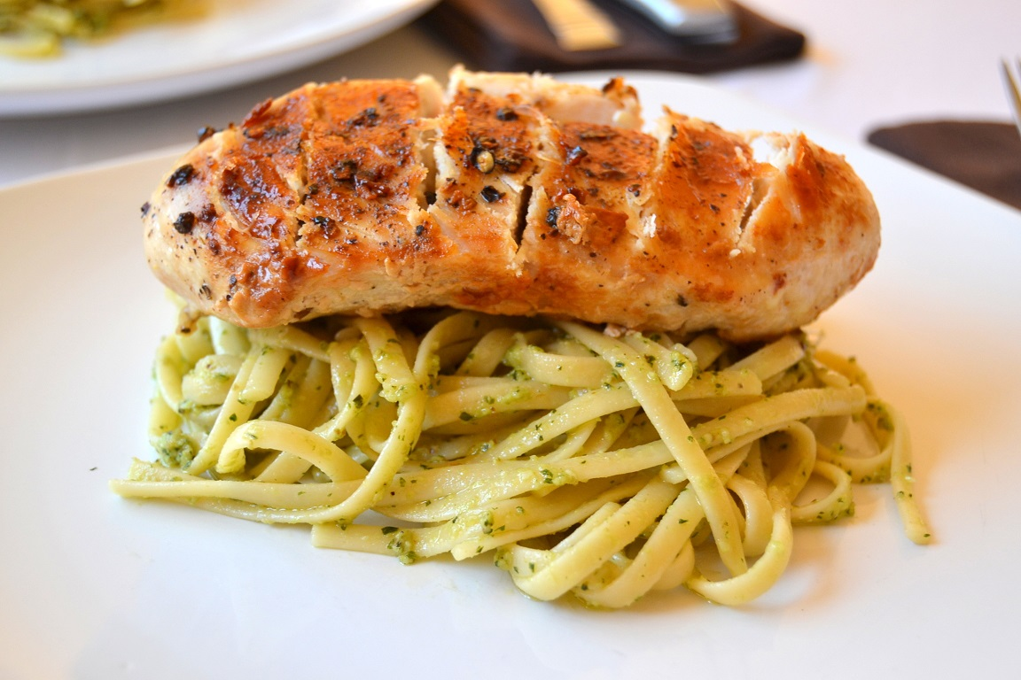 Basil Pesto Linguine with Chicken