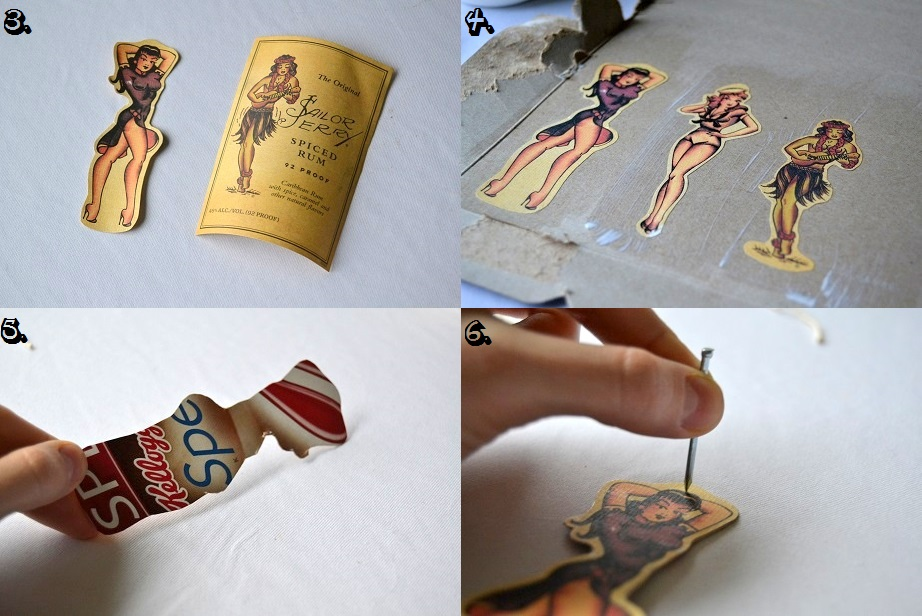 Tattooed Martha - Sailor Jerry Pin-Up Ornaments and Gift Tags (3)