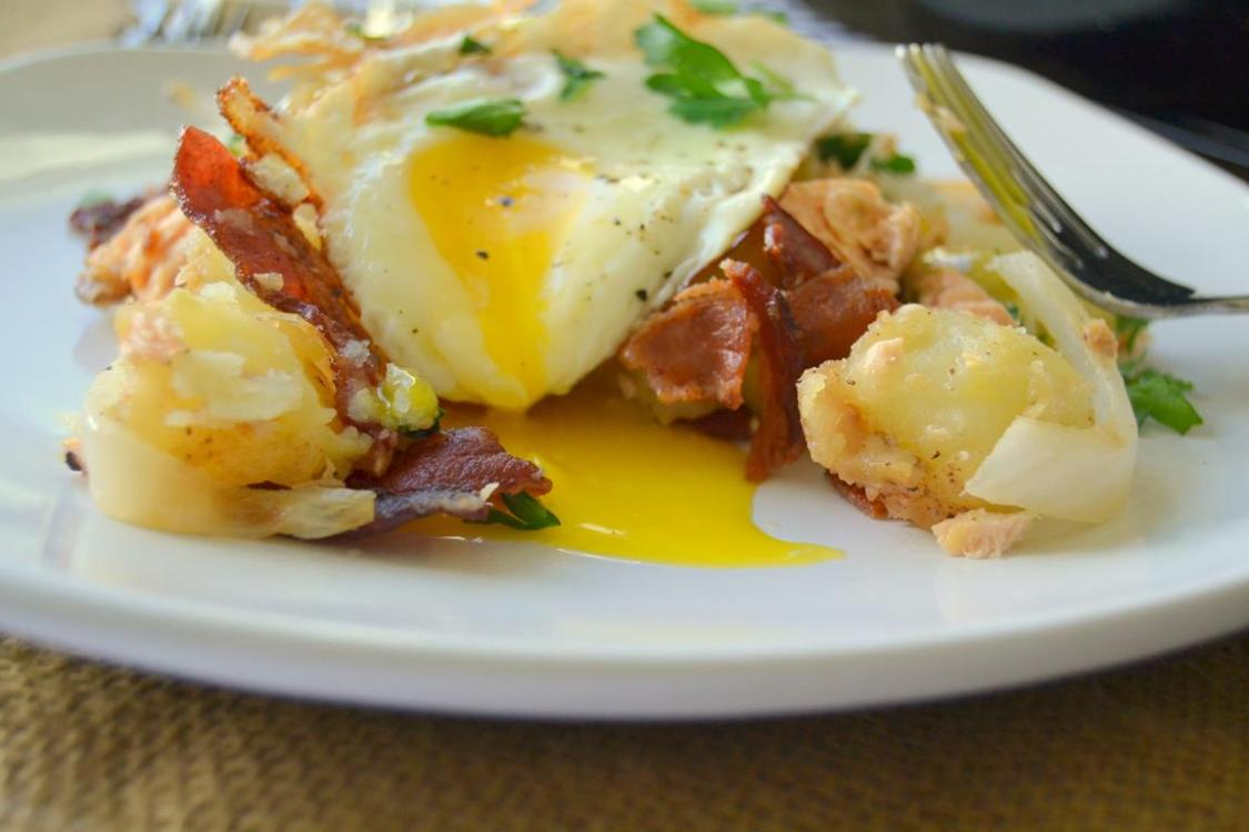 Tattooed Martha - Salmon, Bacon, & Potato Hash (10)