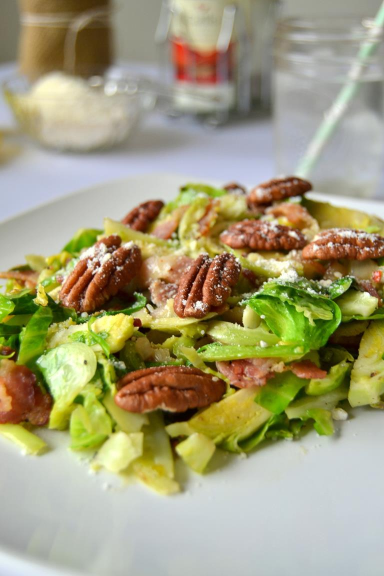 Tattooed Martha - Warm Brussels Sprouts Salad with Lemon Dressing (10)