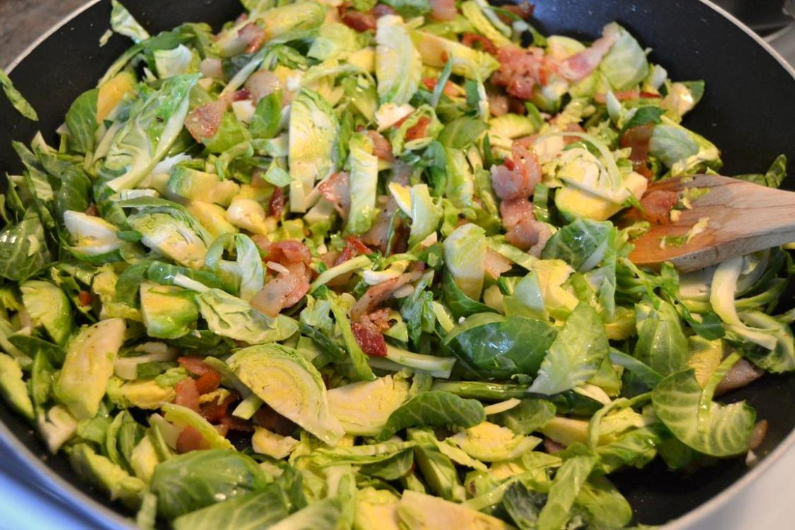 Tattooed Martha - Warm Brussels Sprouts Salad with Lemon Dressing (5)