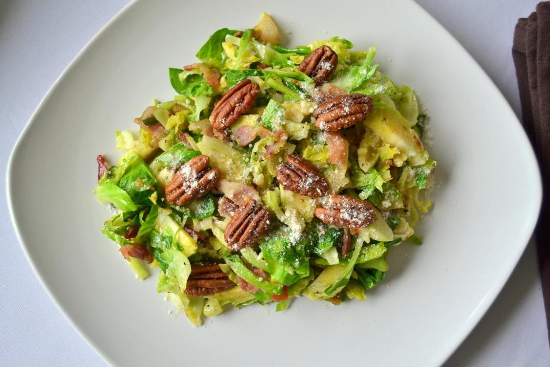 Tattooed Martha - Warm Brussels Sprouts Salad with Lemon Dressing (8)