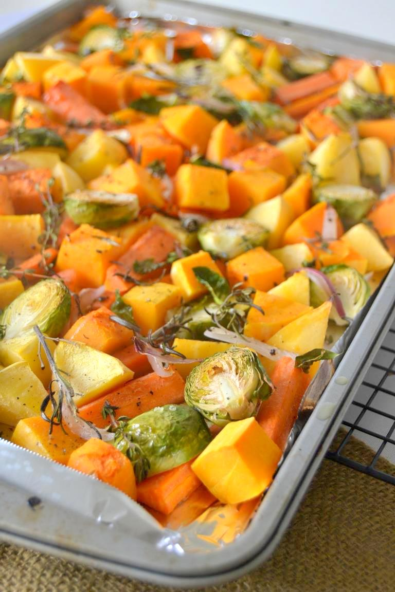 Roasted Vegetables with Red Wine Vinaigrette