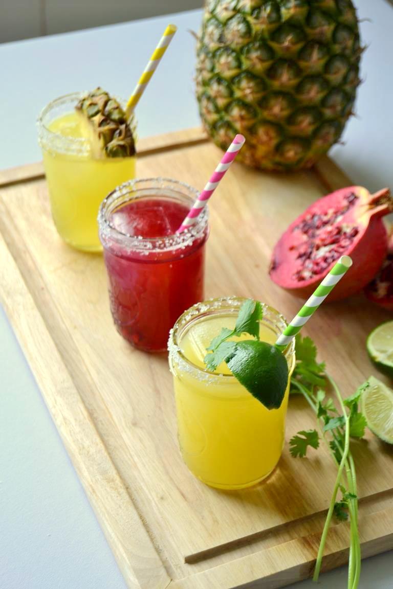 Margaritas 3 Ways with Cilantro Jalapeno Tequila