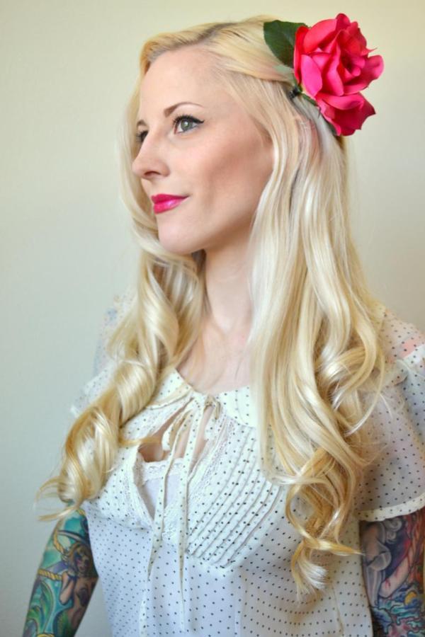 Tattooed Martha - DIY Hair Flower Clips (1)