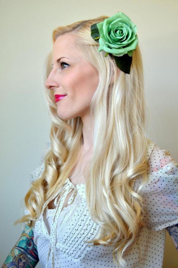 Tattooed Martha - DIY Hair Flower Clips (3)