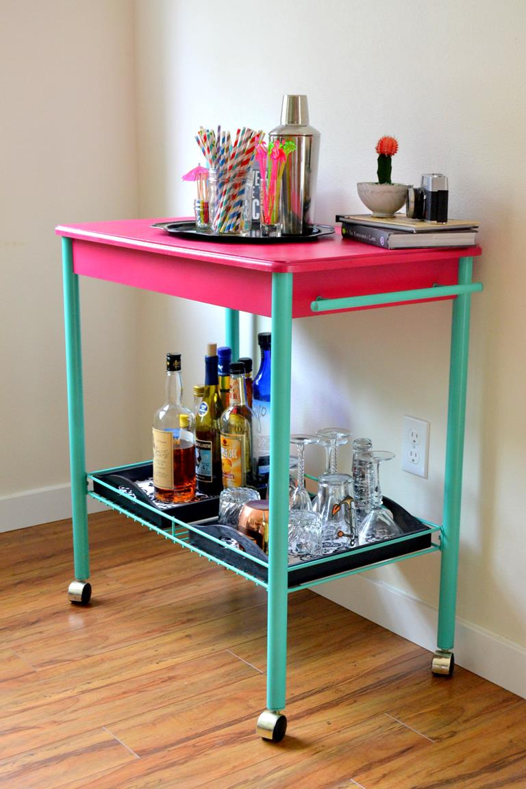 Tattooed Martha's Bar Cart Makeover