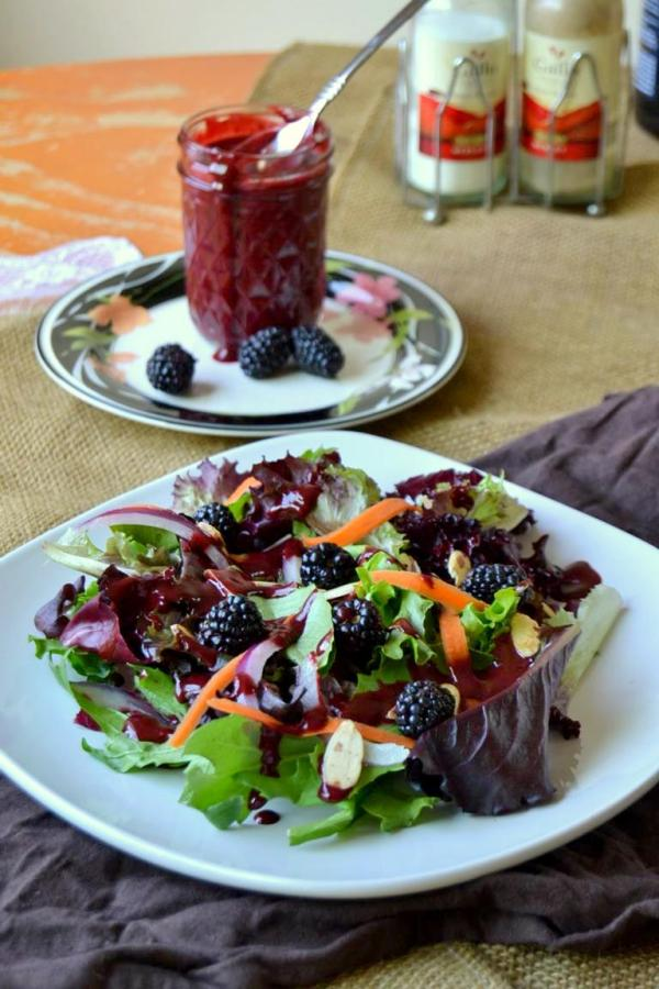 Tattooed Martha - Mixed Greens Salad with Blackberry Vinaigrette (8)