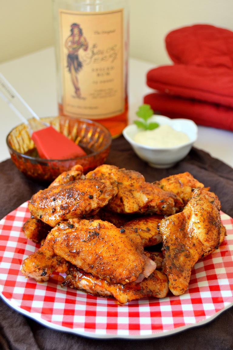 Rum and Brown Sugar Glazed Wings