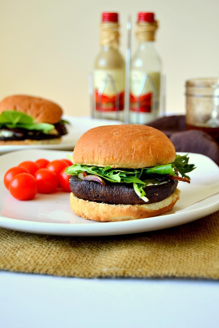 Balsamic Vinaigrette Portobello Mushroom Burgers