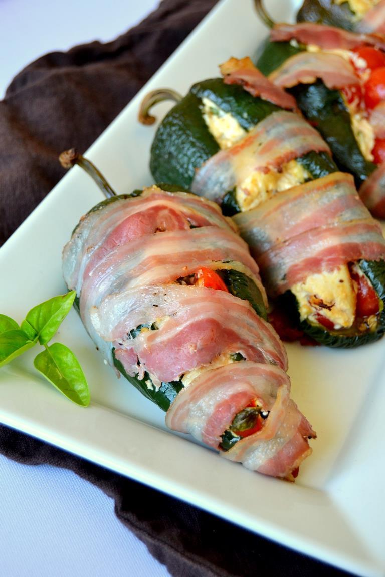 Tattooed Martha - Pancetta Wrapped Chicken Stuffed Peppers (5)