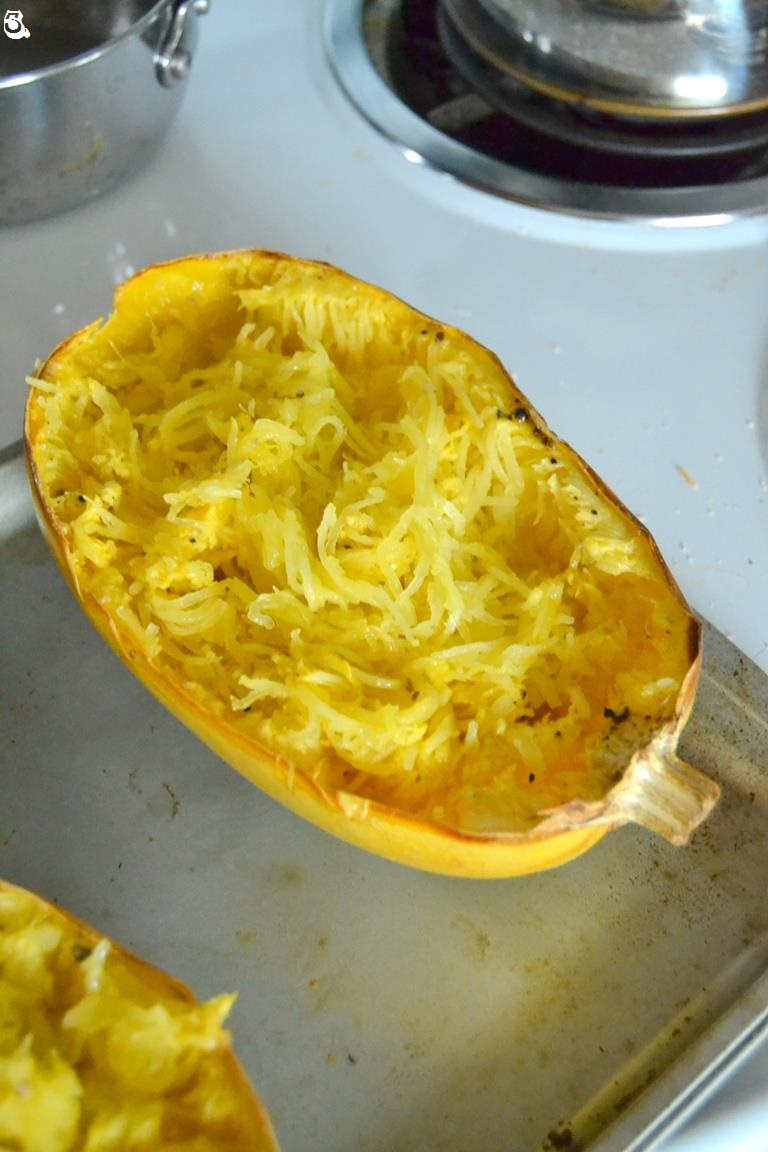 Tattooed Martha - Roasted Spaghetti Squash with Brown Butter, Garlic, and Sage (3)