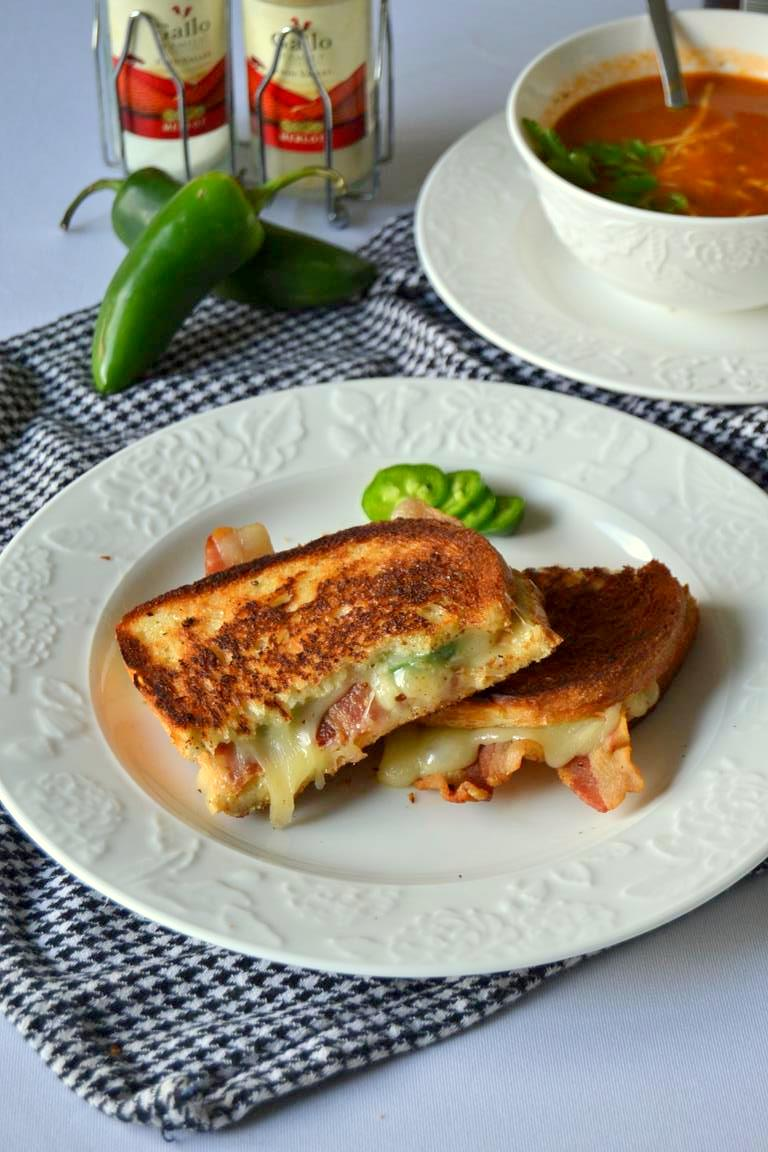 Bacon Jalapeno Monterey Jack Grilled Cheese