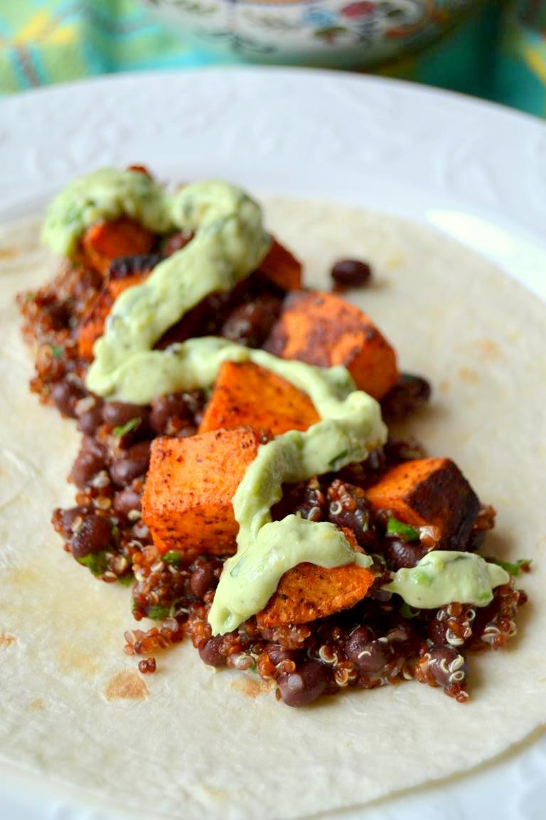 Tattooed Martha - Roasted Sweet Potato and Black Bean Breakfast Burritos (4)
