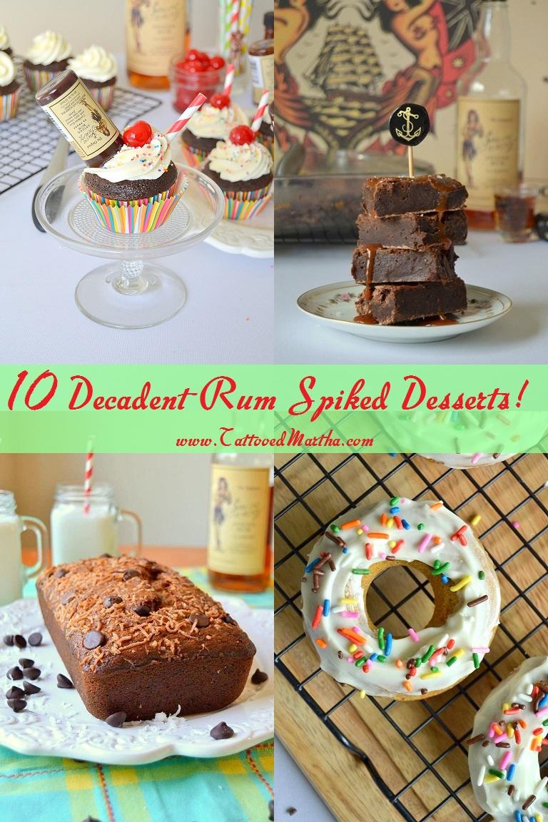 10 Decadent Rum Spiked Desserts