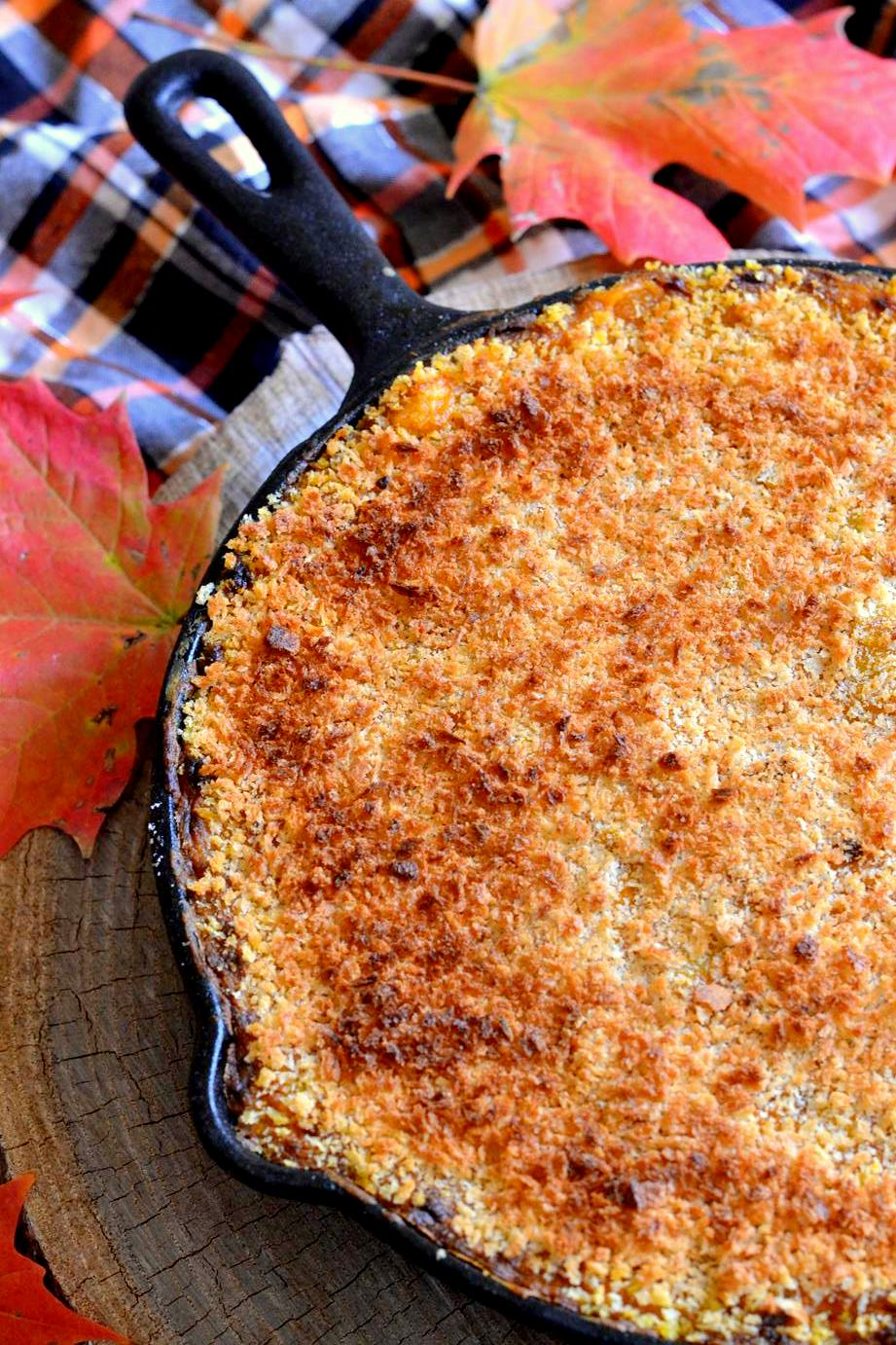 Spicy Skillet Pumpkin Mac and Cheese