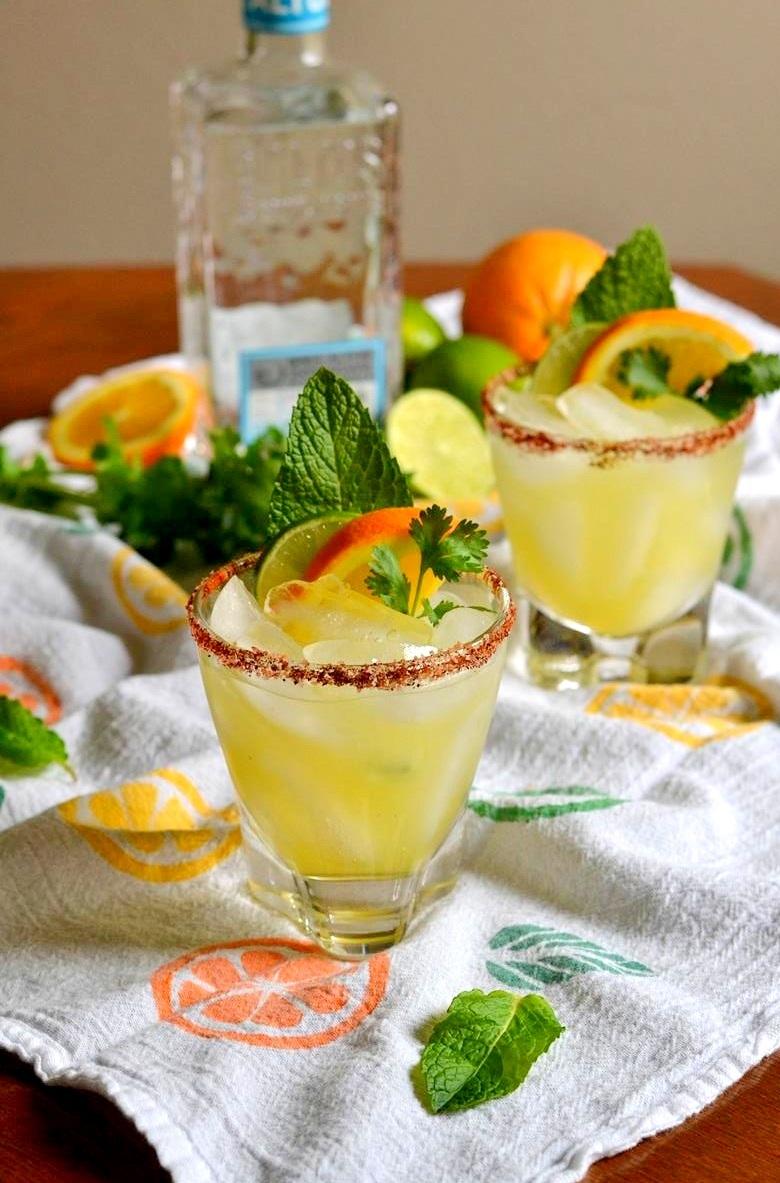 Cilantro Mint Citrus Margaritas
