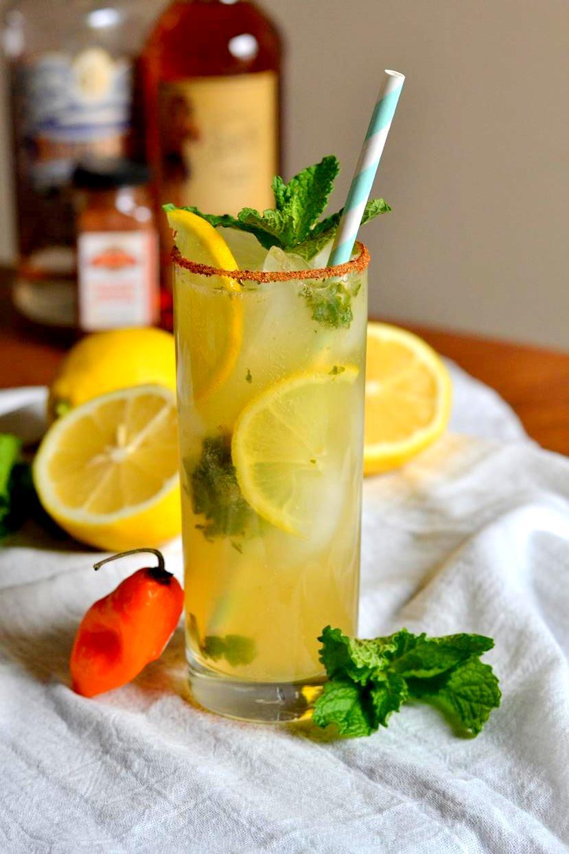 Habanero Lemon-Ginger Rum Fizz