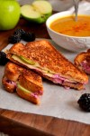 Spicy Apple and Blackberry Grilled Cheese