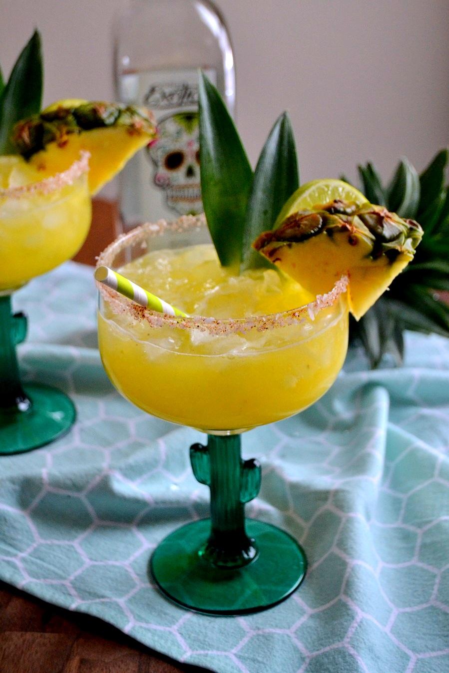 Spicy Cilantro Pineapple Margaritas