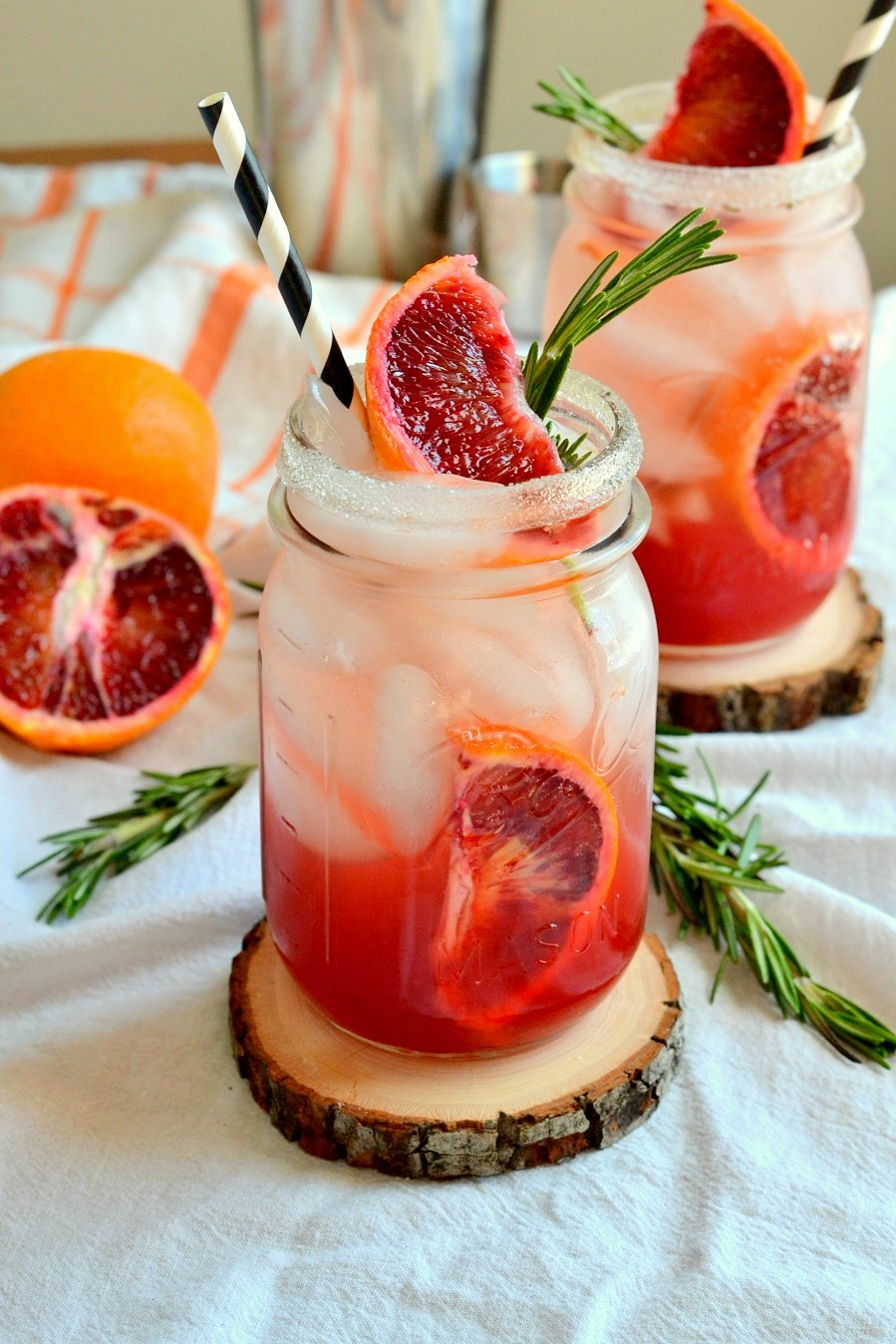 Smoky Blood Orange &  Rosemary Margaritas