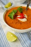 Spicy Cilantro Lime Sweet Potato Soup