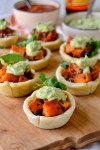 Roasted Sweet Potato Tortilla Cups
